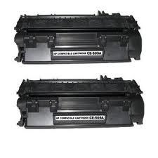 HP LaserJet P2035, P2055 2 Pack Toner Cartridges (CE505A) $25.90 each