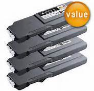 FREE SHIPPING! Dell C3760, C3765 High Yield 4-Pack Toners (CYMK) $63.95ea