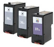Lexmark 36XL, 37XL 3-Pack Combo (Black, Color) $18.00ea