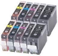 Canon CLi-8/PGi-5 10-Pack Ink (2 PGi, 2 BK, 2 C, 2 Y, 2 M) $3.35ea