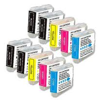 Brother LC51 10-Pack Combo Ink (4 Black, 2 Cyan, Magenta, Yellow) $2.80ea