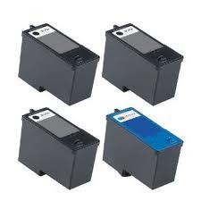 Dell V105, 305, 505W, Photo 936 Series 9  4-Pack (3 Blk,1 Clr) $11.50ea