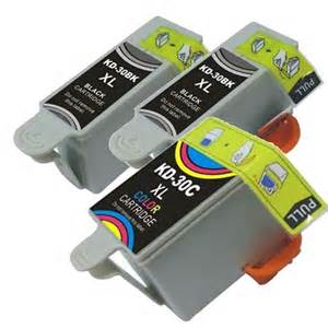 Kodak #30XL 3-Pack High Yield New Compatible Ink Cartridge Combo (2 Black,  1 Color) $7 95 each