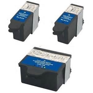 Kodak #10 Compatible 3-Pack Combo Ink Cartridges (2 Black, 1 Color) $6 15  each ($18 45)