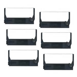 Compatible 6 Pack Black POS Ribbon Cartridges for Epson ERC-23B